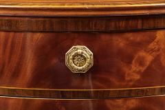 A Beautiful Georgian Mahogany Demi Lune Cabinet - 588743