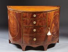 A Beautiful Georgian Mahogany Demi Lune Cabinet - 588744