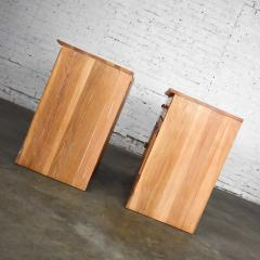 A Brandt Ranch Oak Furniture vintage ranch oak pair of small credenzas or buffet cabinets - 1938937