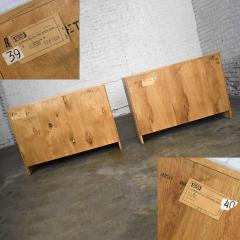 A Brandt Ranch Oak Furniture vintage ranch oak pair of small credenzas or buffet cabinets - 1938939