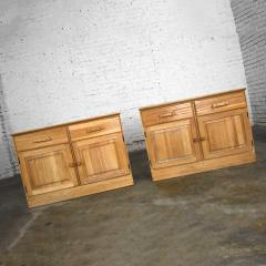 A Brandt Ranch Oak Furniture vintage ranch oak pair of small credenzas or buffet cabinets - 1938941