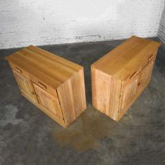 A Brandt Ranch Oak Furniture vintage ranch oak pair of small credenzas or buffet cabinets - 1938965