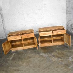 A Brandt Ranch Oak Furniture vintage ranch oak pair of small credenzas or buffet cabinets - 1938971