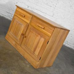 A Brandt Ranch Oak Furniture vintage ranch oak pair of small credenzas or buffet cabinets - 1938981