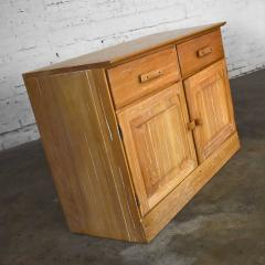 A Brandt Ranch Oak Furniture vintage ranch oak pair of small credenzas or buffet cabinets - 1938982
