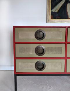 A Bronze Shagreen and Lacquer Sideboard by Kenneth Dipaola - 630264