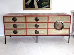 A Bronze Shagreen and Lacquer Sideboard by Kenneth Dipaola - 630266