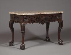 A Carved George II Cuban Mahogany Side Table Of Predominantly Gothic Taste - 1908564