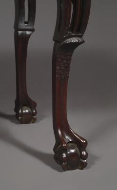 A Carved George II Cuban Mahogany Side Table Of Predominantly Gothic Taste - 1908565