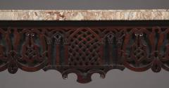 A Carved George II Cuban Mahogany Side Table Of Predominantly Gothic Taste - 1908566