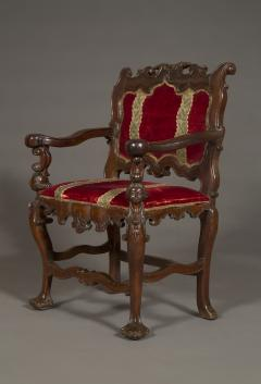 A Carved Rococo Period Hardwood Armchair Of Large Scale - 1701644