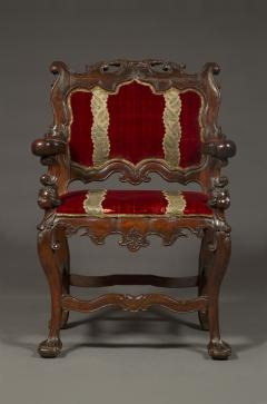 A Carved Rococo Period Hardwood Armchair Of Large Scale - 1701645