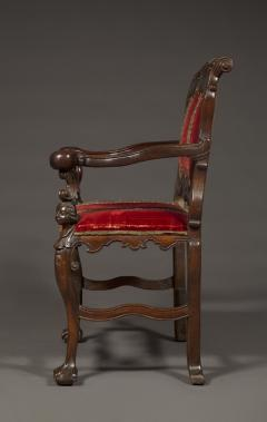 A Carved Rococo Period Hardwood Armchair Of Large Scale - 1701646