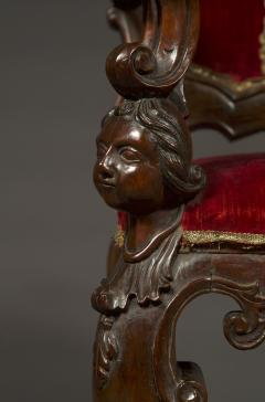 A Carved Rococo Period Hardwood Armchair Of Large Scale - 1701648
