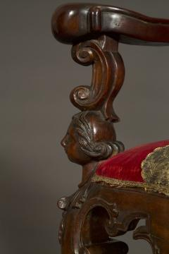 A Carved Rococo Period Hardwood Armchair Of Large Scale - 1701650