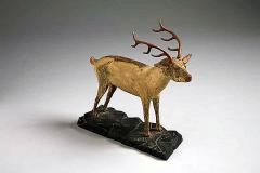 A Carved and Painted Pine Deer - 133839