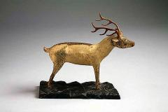 A Carved and Painted Pine Deer - 133840