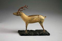 A Carved and Painted Pine Deer - 133841