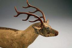 A Carved and Painted Pine Deer - 133842