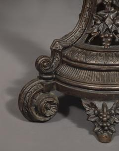 A Cast Iron Center Table With Specimen Marble Top Of Geometric Design - 1814523