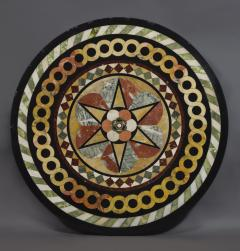 A Cast Iron Center Table With Specimen Marble Top Of Geometric Design - 1814525