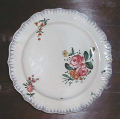 A Ceramic Plate with Painted Floral Decoration - 307816
