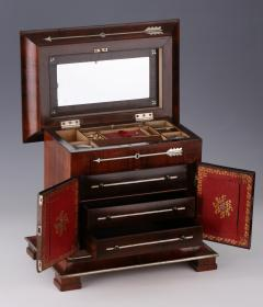 A Charles X Inlaid Rosewood Necessaire de Voyage French ca 1830 - 44185