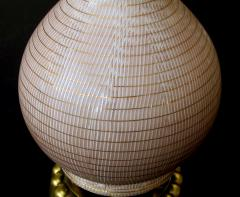 A Chic Pair of American Double Gourd Form Taupe Glazed Lamps - 404363