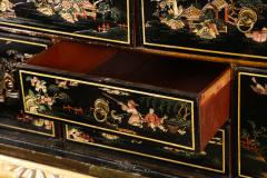 A Chinese Brass Mounted Lacquer Cabinet on a Charles II Gilt wood Stand - 992293