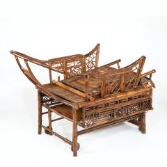 A Chinese Export Brighton Pavilion bamboo adjustable day bed - 1682484