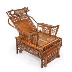 A Chinese Export Brighton Pavilion bamboo adjustable day bed - 1682489