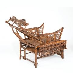 A Chinese Export Brighton Pavilion bamboo adjustable day bed - 1682490