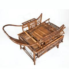 A Chinese Export Brighton Pavilion bamboo adjustable day bed - 1682492