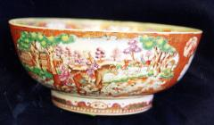A Chinese Export Porcelain Hunt Bowl - 1074279