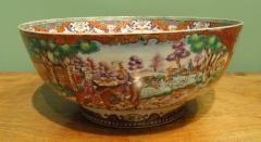 A Chinese Export Porcelain Hunt Bowl - 1074281