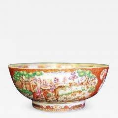 A Chinese Export Porcelain Hunt Bowl - 1074926