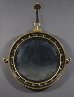 A Circular Convex Mirror Complete With Original Lion Mask - 1569226