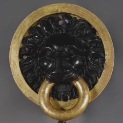 A Circular Convex Mirror Complete With Original Lion Mask - 1569227