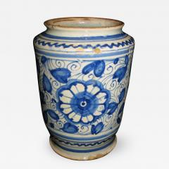 A Conical Shaped Albarello with Blue and White Floral Motif - 308379