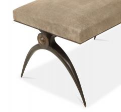 A Contemporary Banquette designed by Marie Guerin Solid Bronze - 1656340