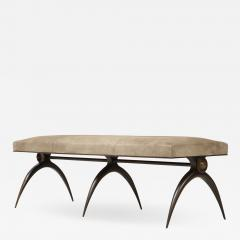 A Contemporary Banquette designed by Marie Guerin Solid Bronze - 1657260