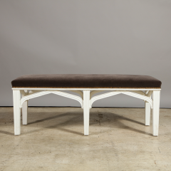 A Contemporary Gothic Revival Bench after a design by Chippendale - 1186023