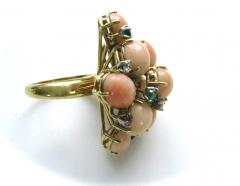 A Coral and Gemstone Cocktail Ring c1960 - 44922
