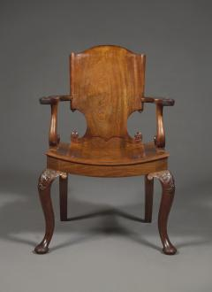 A Cuban Mahogany Armchair The Back In The Form Of A Paper Scroll - 1306320