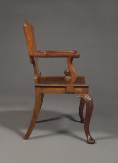 A Cuban Mahogany Armchair The Back In The Form Of A Paper Scroll - 1306321