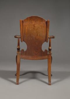 A Cuban Mahogany Armchair The Back In The Form Of A Paper Scroll - 1306322