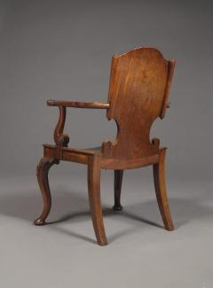 A Cuban Mahogany Armchair The Back In The Form Of A Paper Scroll - 1306323