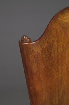 A Cuban Mahogany Armchair The Back In The Form Of A Paper Scroll - 1306325
