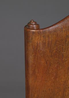 A Cuban Mahogany Armchair The Back In The Form Of A Paper Scroll - 1306326