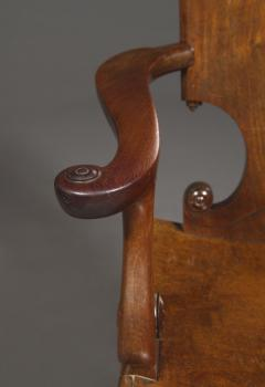 A Cuban Mahogany Armchair The Back In The Form Of A Paper Scroll - 1306327